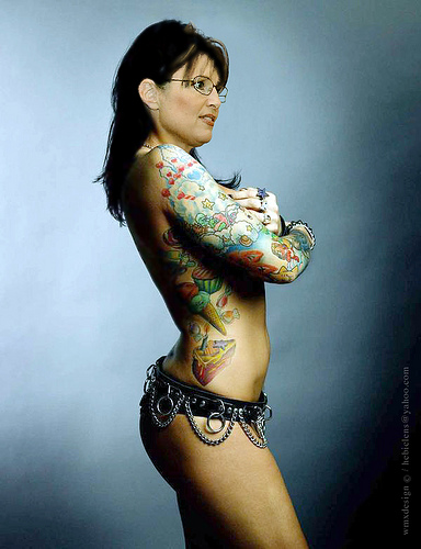 If Sarah Palin poses nude, I would buy her book.er.the book it is in
